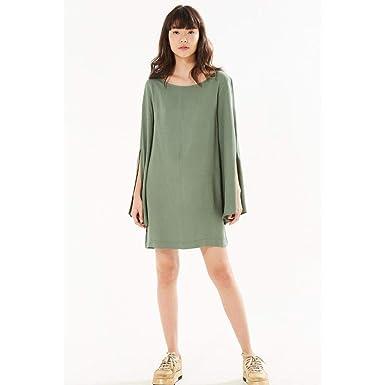 8ca72ea7d Vestido Manga Longa Fenda Verde Meteoro - PP: Amazon.com.br: Amazon Moda