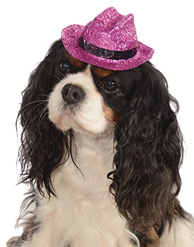 Rubies Costume Company Glitter Cowboy Hat Pet Costume Accessory, Small/Medium, Pink ()
