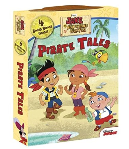 Disney Jake and the Neverland Pirates Educational Board Book Set in a Fun Carrying Case ~ Pirate Tales (First Edition; 2015) ()