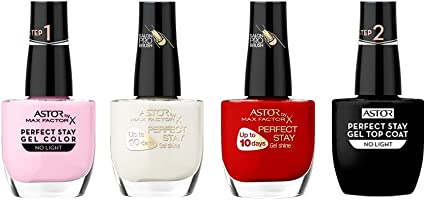 Max Factor Pack uñas (Incluye Topcoat Perfect Stay 2 Step Gel 12 ml, Perfect Stay 2