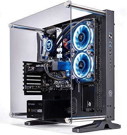 Thermaltake LCGS Shadow III AIO Liquid Cooled CPU Gaming PC (AMD RYZEN 5 3600 6-core, ToughRam DDR4 3200Mhz 16GB RGB Memory, RTX 2060 Super 8GB, 1TB SATA III, WiFi,Win 10 Home) P3BK-B450-STL-LCS, 51lePSvkf9L