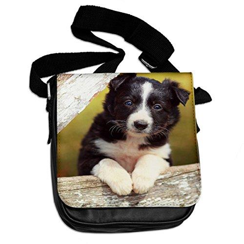 Bordercollie Shoulder puppy puppy Bordercollie Animal Bag 046 zwpnxdIq1