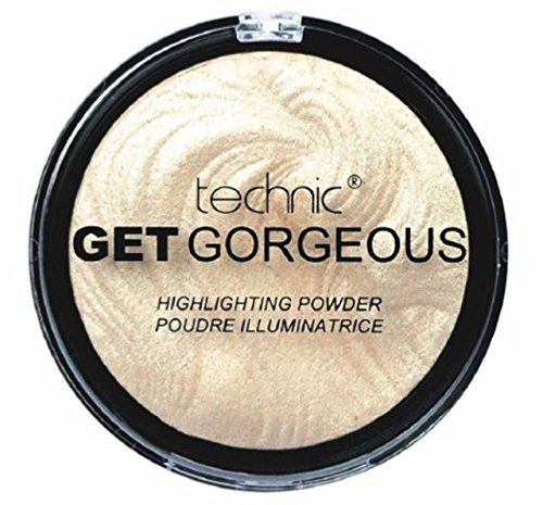 TECHNIC GET GORGEOUS HIGHLIGHTER Shimmer Compact Highlighting Shimmering Powder by (Highlighting Powder)