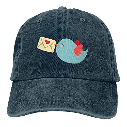 Huayaa Cowboy Hat Cute Mail Carrier Bird Denim Skull Cap Baseball Cowgirl Sport Hats for Men Women