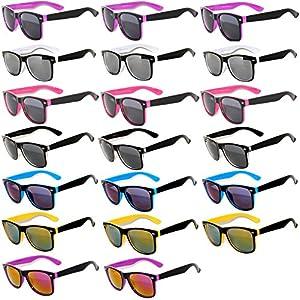 20 Pieces Per Case Wholesale Lot Glasses. Assorted Colored Frame Fashion Sunglasses.Bulk Sunglasses - Wholesale Bulk Party Glasses, Party Supplies.