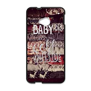 Baby It's Cold Outside HTC One M7 Cell Phone Case Black phone component AU_449294