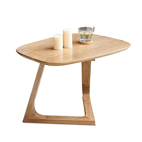 Amazon.com: Mesa de café de madera maciza para salón o ...