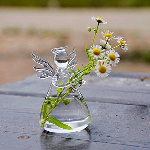 SOLEDI Verre Suspendu en Forme d\'Ange de Fleur Vase Bouteille Container Jardin Décor