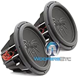 Pair of Soundstream T5.154 15 1300W RMS 2600W Max (Each) Dual 4-Ohm Subwoofers