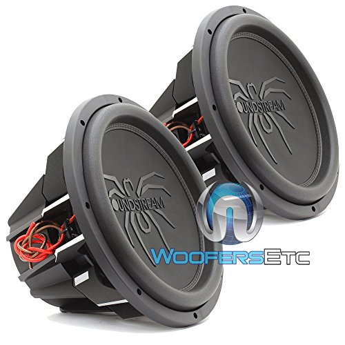 "Pair of Soundstream T5.154 15"" 1300W RMS 2600W Max (Each) Dual 4-Ohm Subwoofers"