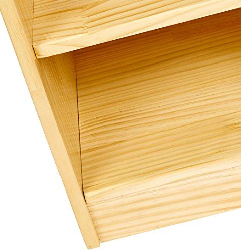 AmazonBasics Storage Cabinet, 2 Shelves with Back