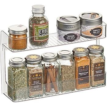 Amazon Com Mdesign Wall Mount Kitchen Spice Organizer