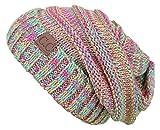 H-6100-816.41 Oversized Slouchy Beanie - Rainbow (#11)