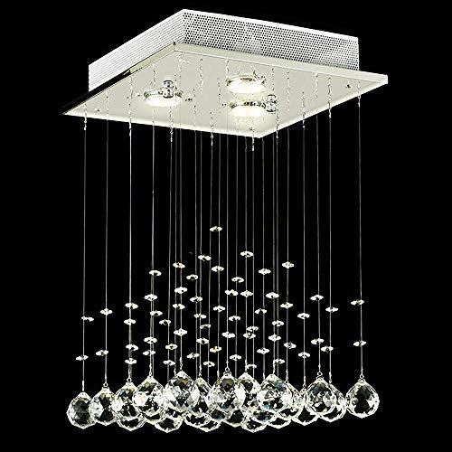 Lightsjoy Lámpara de Techo Cristal Iluminación Interior Moderno con Borlas Elegantes Luz Pendiente Lujosa para Iluminación de Hogar Sala Habitación ...