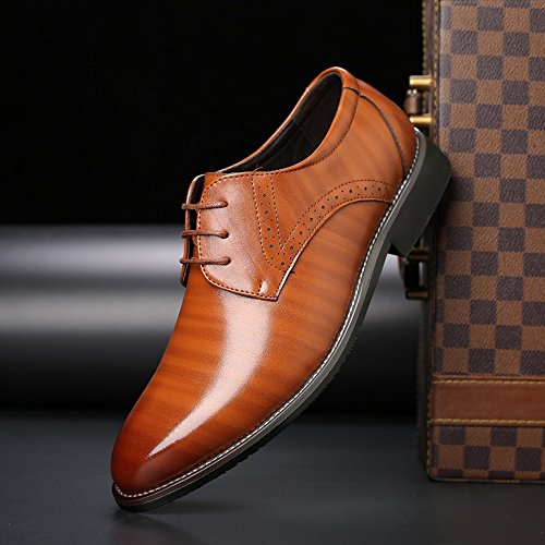 Resistente da Sunny all'abrasione UE in da Color 44 Upper uomo Orange Scarpe Lace PU Orange Fodere traspirante Matte Leather Dimensione uomo amp;Baby Up lavoro fodera Classic da 4rxqYrHR