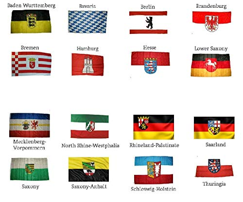 German State Flag - Wholesale Lot of All 16 German States 3'x5' Polyester Flags