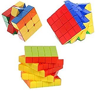 Buy Mayatra S Combo Of 3x3 4x4 5x5 Stickerless Cube Magic Rubik