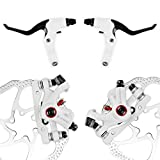 AFTERPARTZ NV-5 G3/ HS1 Bike Disc Brake Kit Front + Rear Rotor (NV-5 HS1 White Kit with Handle)