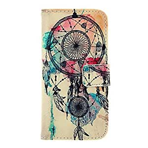 QYF Dreamcatcher Pattern TPU Back Cover PU Full Body Case with Stand and Card Slots for iPhone 6