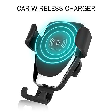 ZHONGYU Qi Cargador inalámbrico para automóvil, Soporte para ...