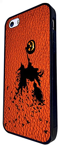 694 - Witch Pumpkin Halloween Leather Design iphone SE - 2016 Coque Fashion Trend Case Coque Protection Cover plastique et métal - Noir
