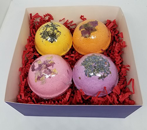 4 Large Bath Bombs-Choose your fragrances or Essential Oils, Bath Bomb, Artisan, gift set, Bath bomb set, care package, gift for her, gift for him,teacher gift by Crazy Mama's Soaps and More