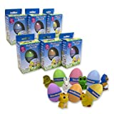 Easter Eggs - Hide 'Em and Hatch 'Em Super Sized Grow Eggs (Single Unit) - Watch Them Hatch Like Magic One of Six Different Pets!