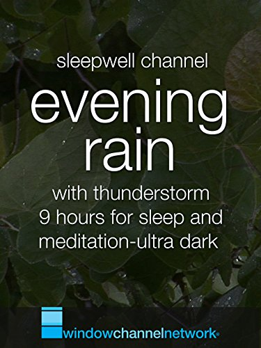 Evening Rain with thunderstorm, 9 hours for sleep and meditation-ultra dark