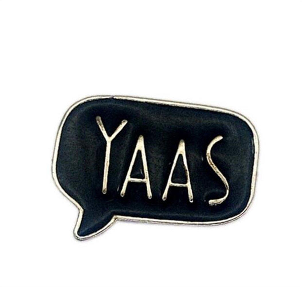 Enamel Pin Badge Souvenir Vintage YAAS Lettre Broches Bouton Badge Vêtements Accessoires (Coloré) TOUYOUIOPNG