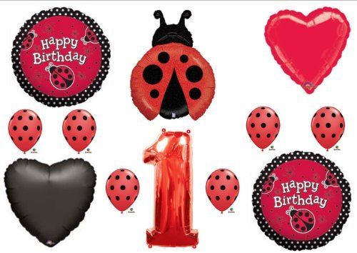 LADYBUG 1st First BIRTHDAY PARTY Balloons Decorations Supplies NEW -