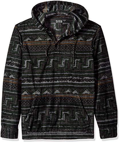 (Billabong Men's Furnace Anorak Polar Fleece Flannel Shirt Raven)