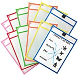 #10: Clipco Dry Erase Pocket Sleeves Assorted Colors (12-Pack)