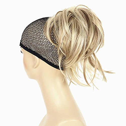 Hair Extension Ponytail (Adjustable Messy Style Ponytail Hair Extension Synthetic Hair-Piece with Jaw Claw Amzing Shape For You Hivision(H16/613 Blonde Highlighted))