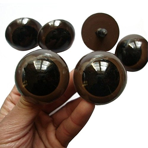 Used, VASANA 100PCS 24mm Brown Plastic Safety Screw Eyes for sale  Delivered anywhere in USA