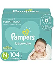 Diapers Size Newborn 4.5 kg - Pampers Baby Dry Disposable Baby Diapers, 104 Count, Super Pack (Packaging May Vary)