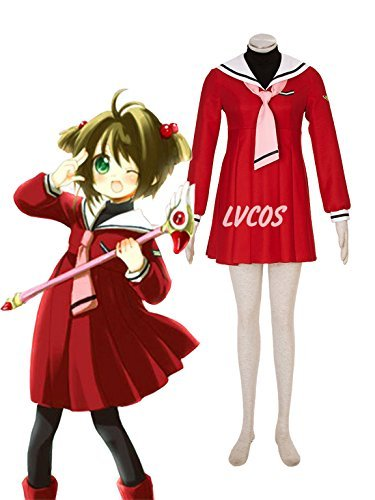 Cosplay Costume Sakura Kinomoto 4 Gen's Red