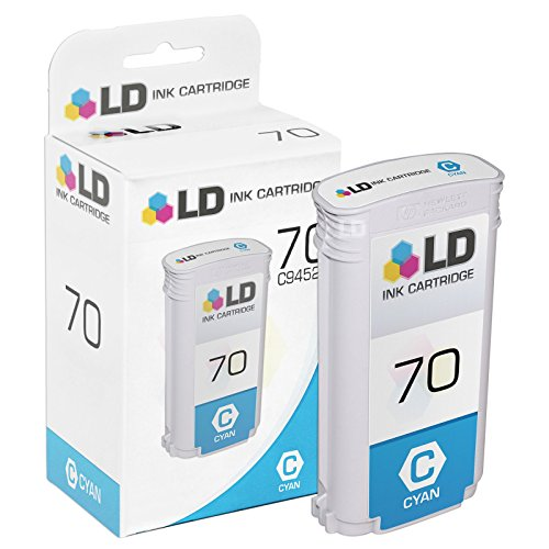 LD Remanufactured Ink Cartridge Replacement for HP 70 C9452A (Cyan)