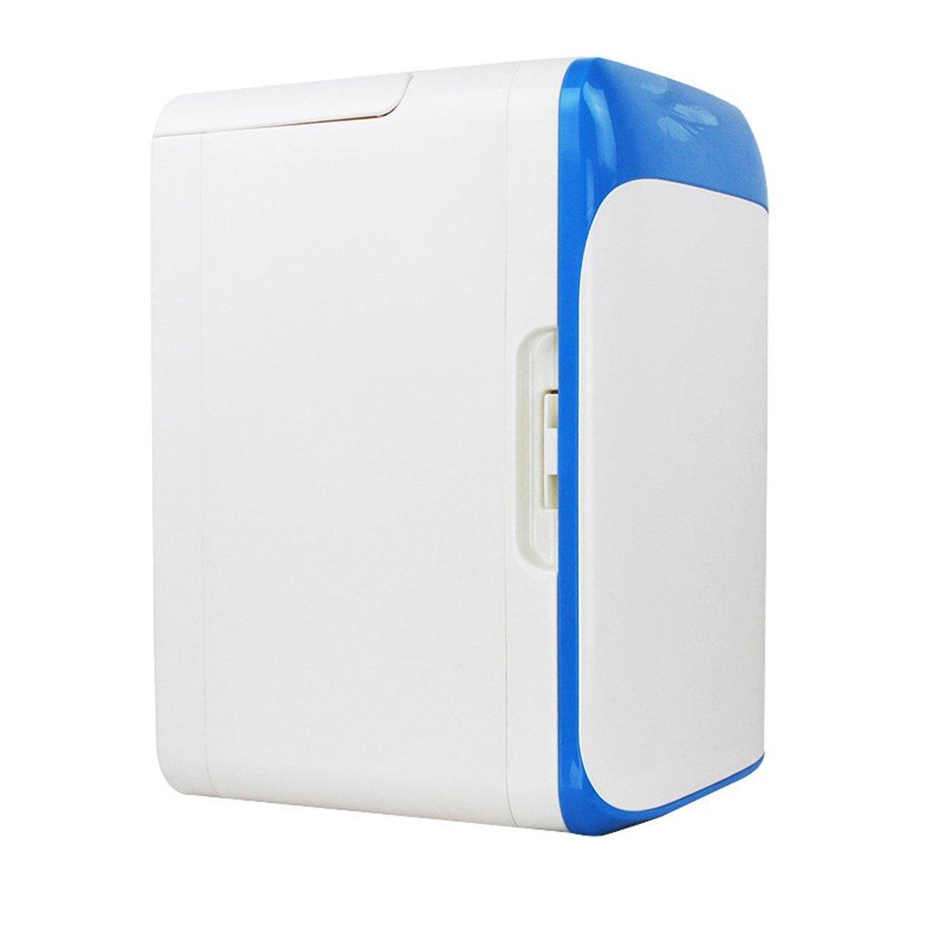Peaceip 10L Mini-fridge Dormitory Micro-refrigerators Automotive Small-scale Home Car Coolers Semi-conductor Refrigeration (Color : Blue)