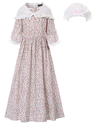 Pioneer Colonial Women Costume Prairie Dress 12Y ()