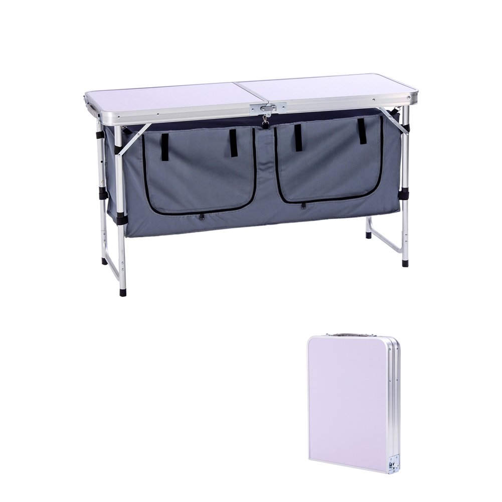 Camp Field Camping Table with Adjustable Legs for Beach, Backyards, Party and Picnic Table (B) by Camp Field