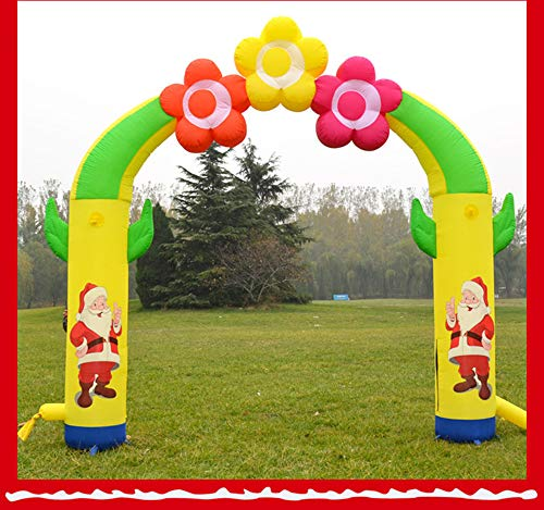 Elk Arches - Christmas Tree Inflatable Arches Holiday Decorations Large Inflatable Santa Claus Elk Castle Christmas Decorations Hotel Shopping Mall Home Decorations,6