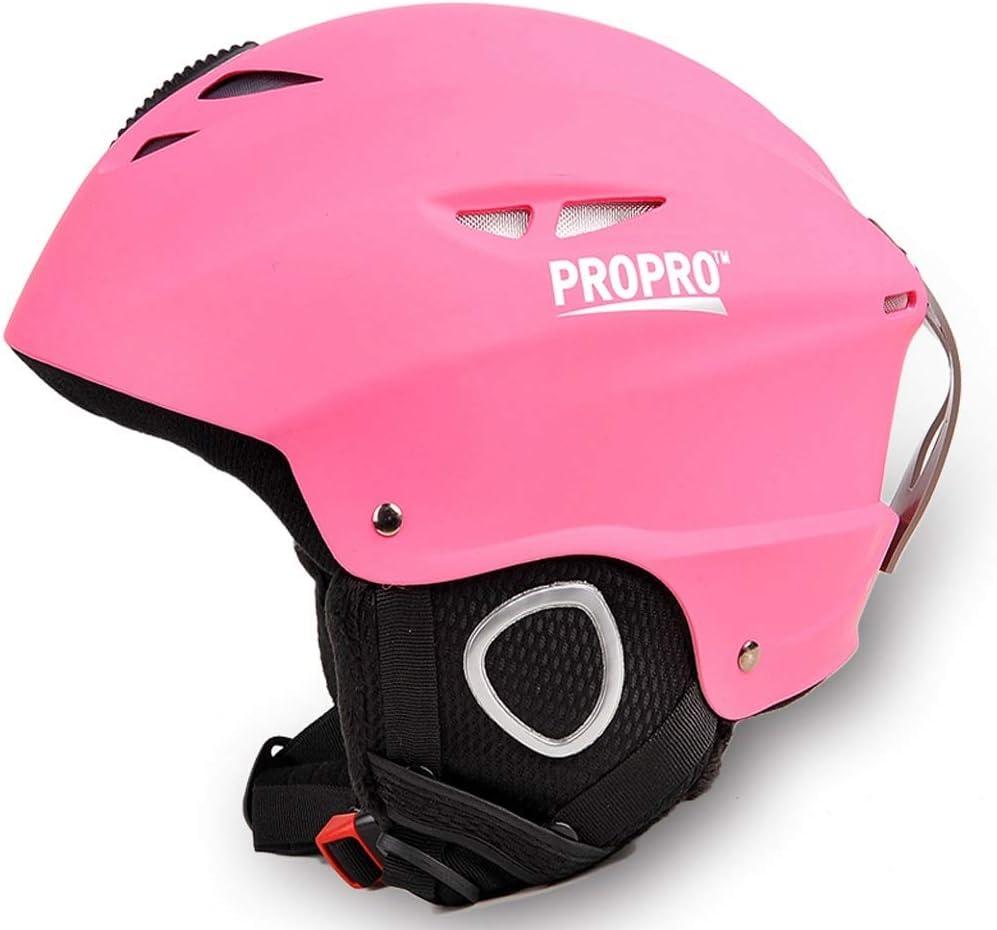 思春期のスキー用ヘルメット男女兼用スキー屋外用具ヘッド安全ヘルメット54-58 cm 保護 (Color : ピンク, Size : S)