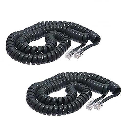 iMBAPrice  Black Coiled Telephone Phone Handset Cable Cord,
