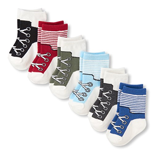 - The Children's Place Baby Girls 6 Pack Sock Set, Multi CLR, 0-6 Months