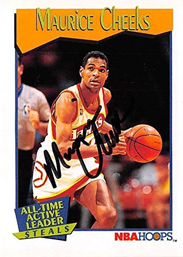 b8f9285b1fe6 Amazon.com  Maurice Cheeks autographed Basketball Card (Philadelphia 76ers)  1991 Hoops Steals Leader  533 - Unsigned Basketball Cards  Sports  Collectibles