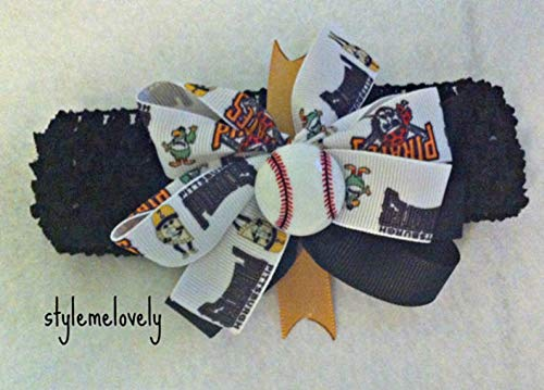 Pirate Boutique - Pittsburgh Pirates Baby Girl Boutique Bow Crocheted Headband