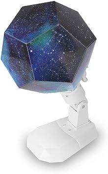 YJDQXKD Iluminación Proyector Estrellas,7 Colores Proyección 4 ...
