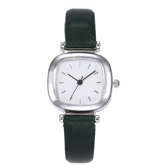 Mymyguoe Reloj de Esfera Cuadrada Reloj Mujer Relojes Hombre Unisex Reloj de Pulsera Relojes de Pulsera para Hombres Reloj Mujer Reloj analogico Reloj de ...