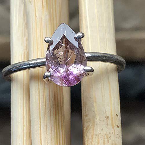 (Natural cacoxenite 925 Solid Sterling Silver Super/7 melodys stone Engagement Ring sz 8.75)