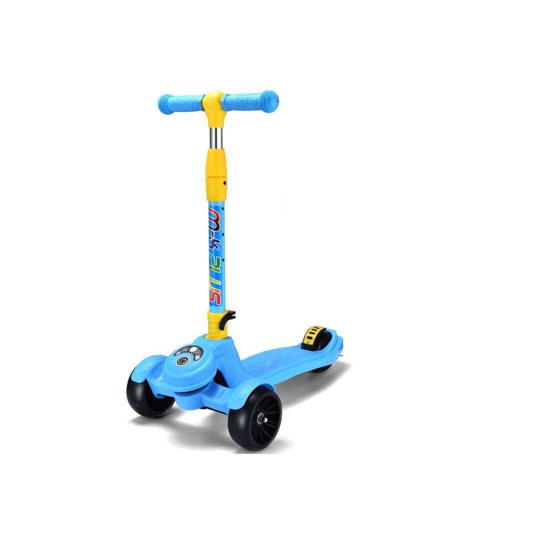 ファッションの TLMYDD 子供のスクーター2-3-6-14歳フラッシュペダル折りたたみ三輪スライド滑りやすいスクーター32×60×83センチ 子供スクーター : (色 子供スクーター B07NMSBYV4 : 青) B07NMSBYV4 青, インテリアクレセント:3ba067e1 --- a0267596.xsph.ru